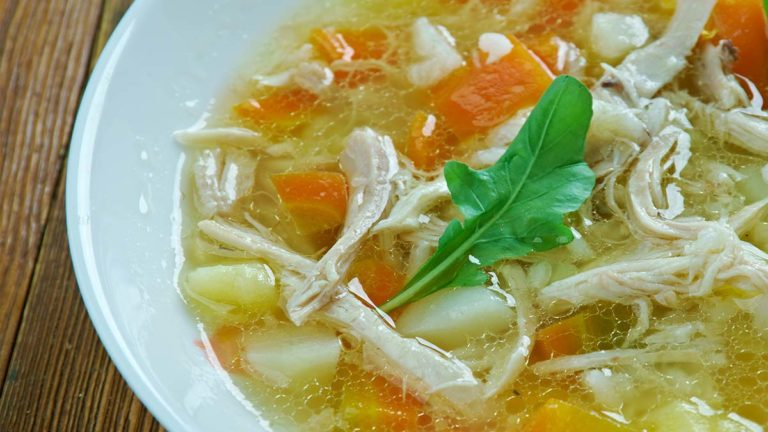 Portuguese Canja de Galina (Chicken Soup)